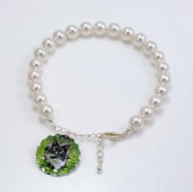 Pet Loss Pearl Bracelet with Photo Charm